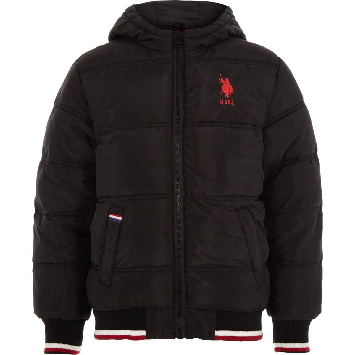 Boys U.S. Polo Assn. black puffer jacket