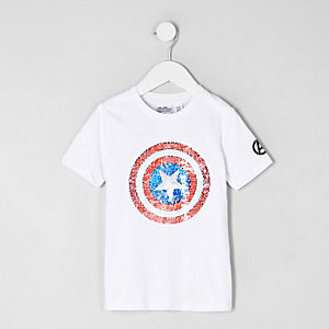 "Weißes T-Shirt mit ""Avengers""-Motiv"