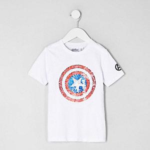Mini - Wit T-shirt met Avengersprint voor jongens