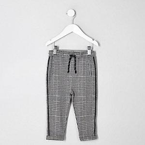 Pantalon à carreaux gris mini garçon
