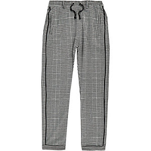 Boys grey check pants