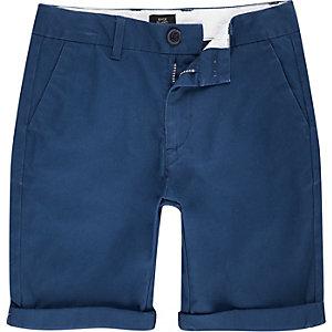 Dylan - Blauwe chinoshort voor jongens