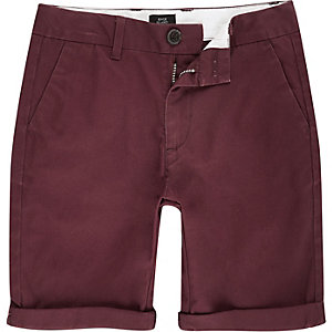 Boys red Dylan chino shorts
