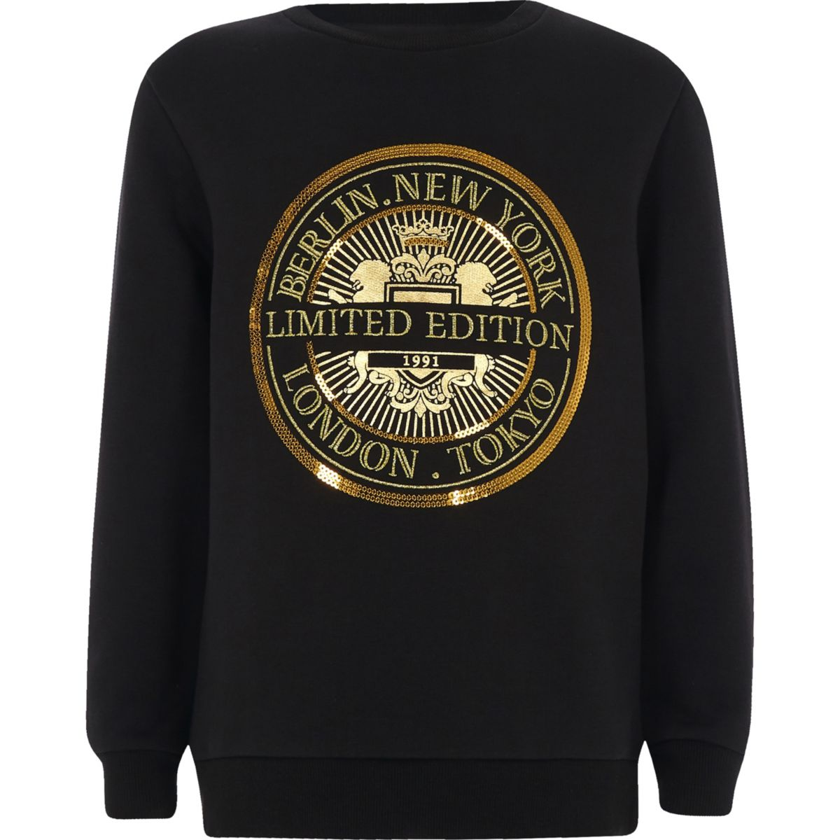 Boys black 'limited edition' sweatshirt