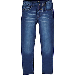 Boys blue distressed Danny super skinny jeans