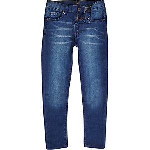 Danny - Blauwe distressed superskinny jeans voor jongens