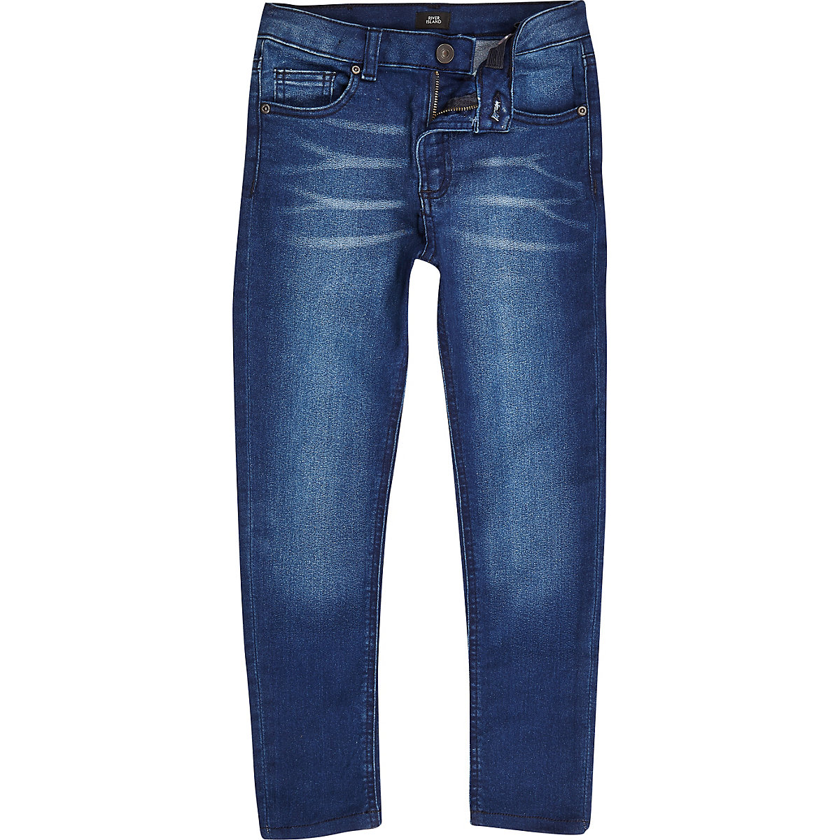 Boys blue distressed Danny super skinny jeans