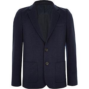 Marineblauwe jersey blazer voor jongens