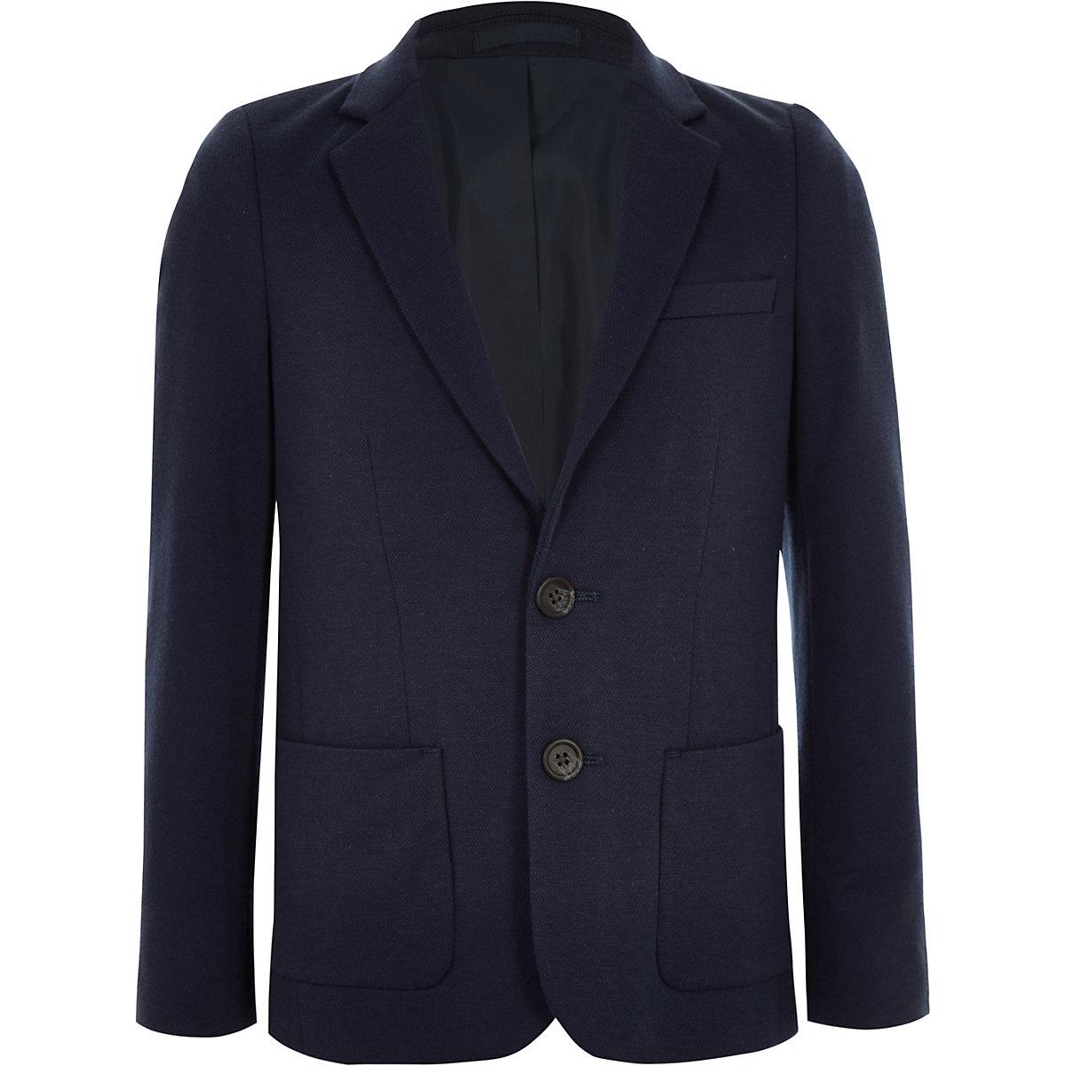 Marineblaue Jersey-Blazer