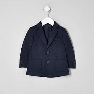 Marineblauer Jersey-Blazer