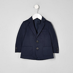 Blazer en jersey bleu marine mini garçon