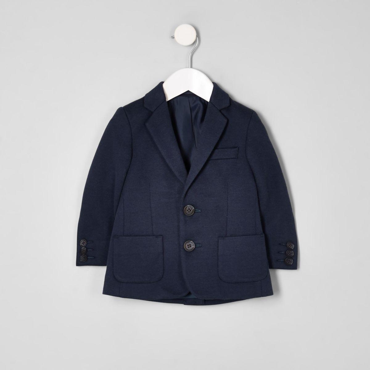 Mini boys navy jersey blazer