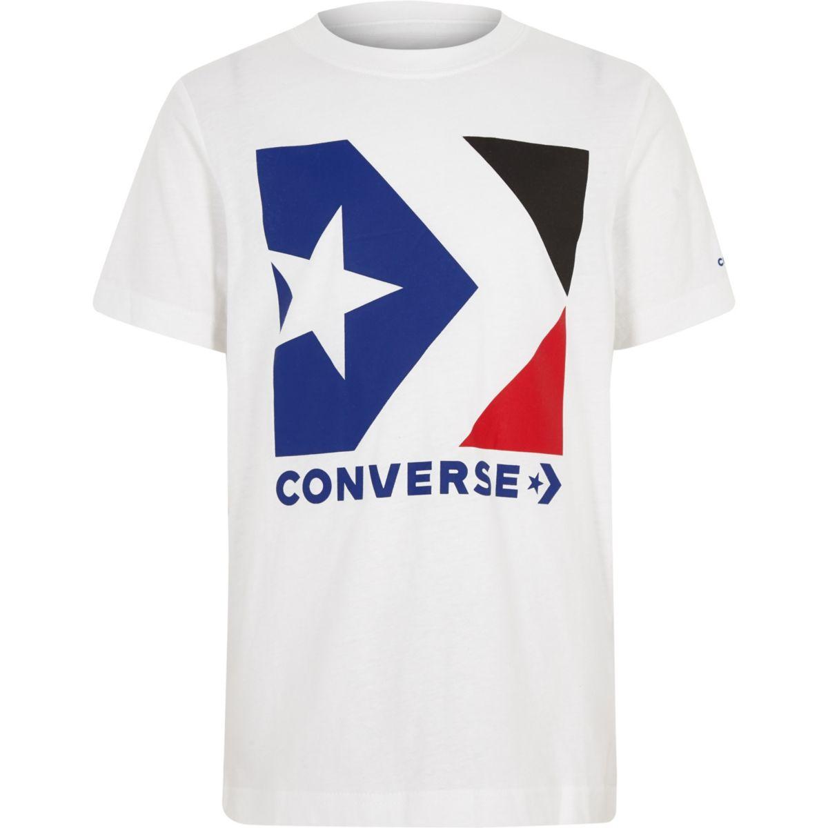 Boys Converse white logo T-shirt