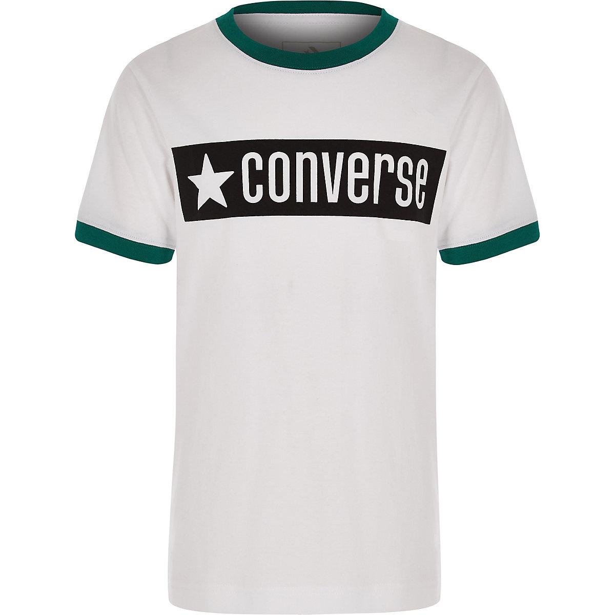 Converse – T-shirt à bordures contrastantes pour garçon