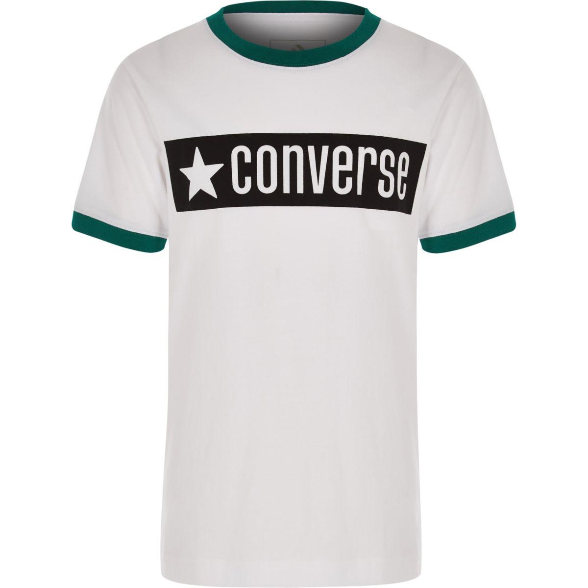 Boys Converse white ringer T-shirt