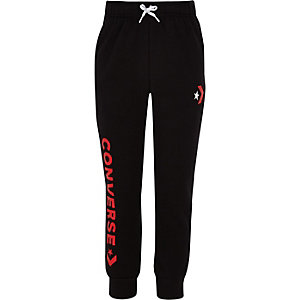 Kids Converse black tracksuit bottoms