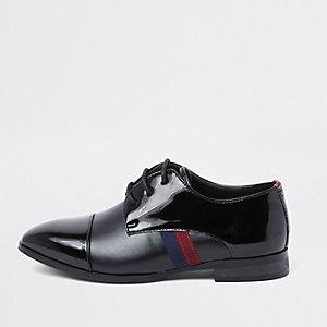 Zwarte lakleren schoenen met bies opzij voor jongens