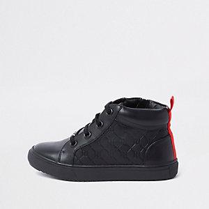 Zwarte hoge sneakers met RI-logo voor jongens