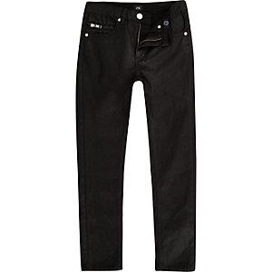 Sid – Jean skinny noir enduit pour garçon