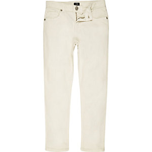Boys white Dylan slim fit skinny jeans