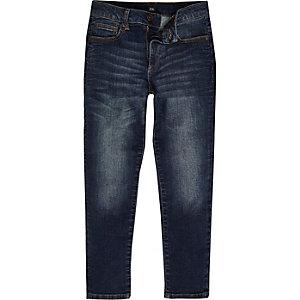Jimmy - Middenblauwe wash smaltoelopende smalle jeans voor jongens