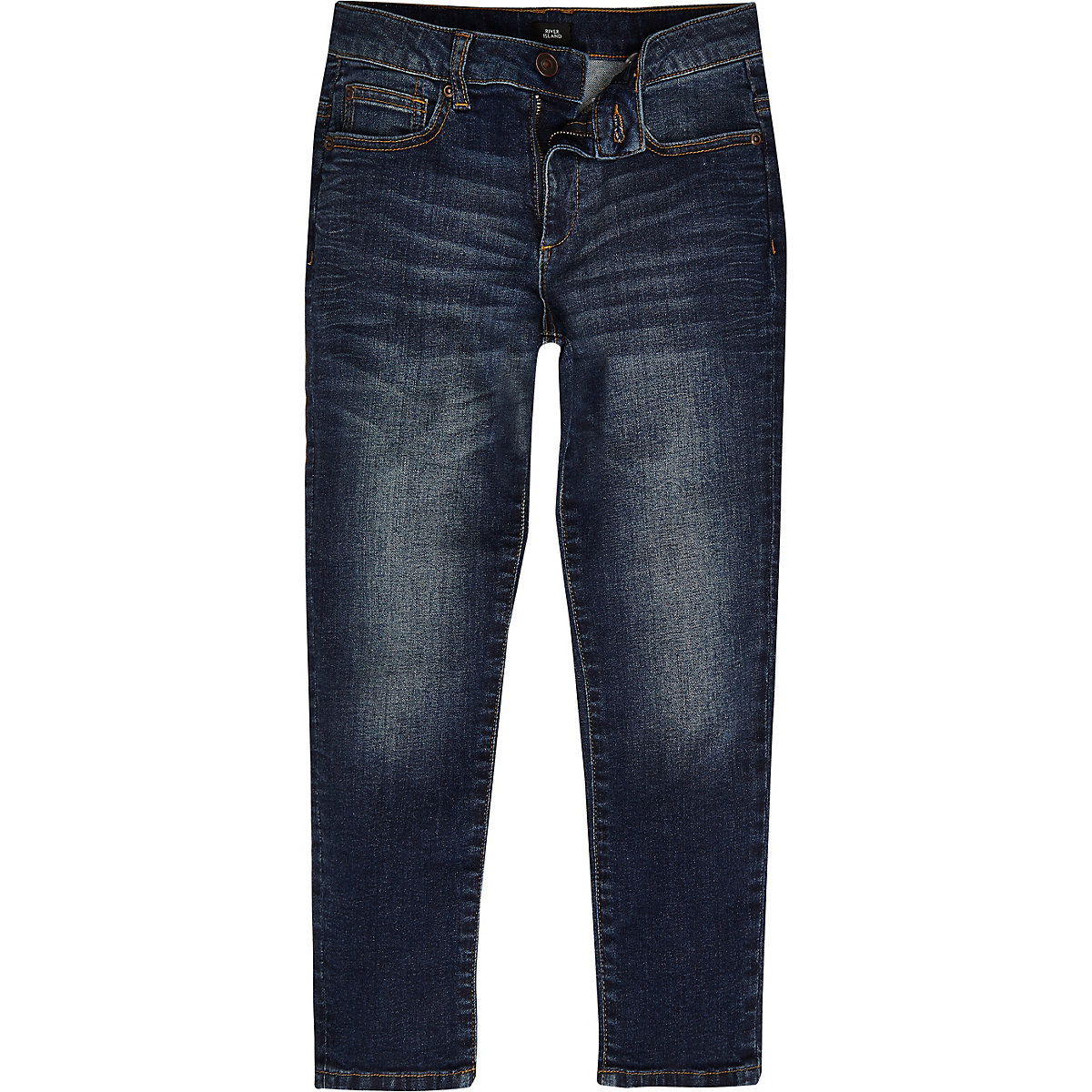 Boys mid blue wash Jimmy tapered slim jeans