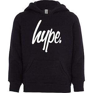 Kids Hype navy tracksuit hoodie