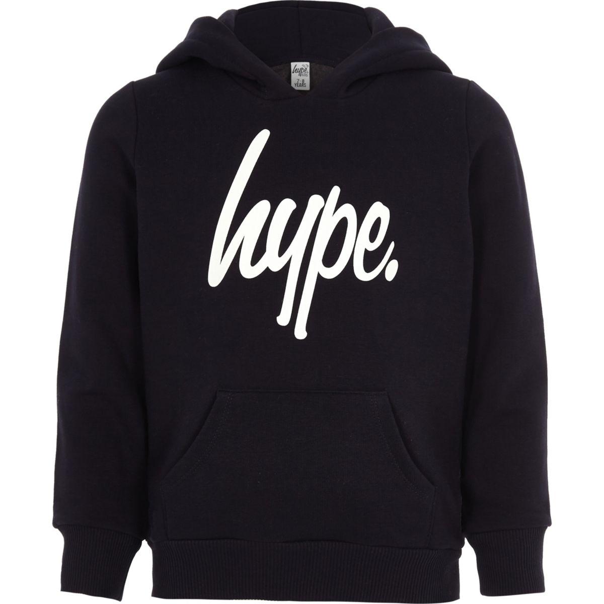 Boys navy Hype hoodie