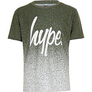 Hype – T-shirt kaki moucheté effet dégradé pour garçon