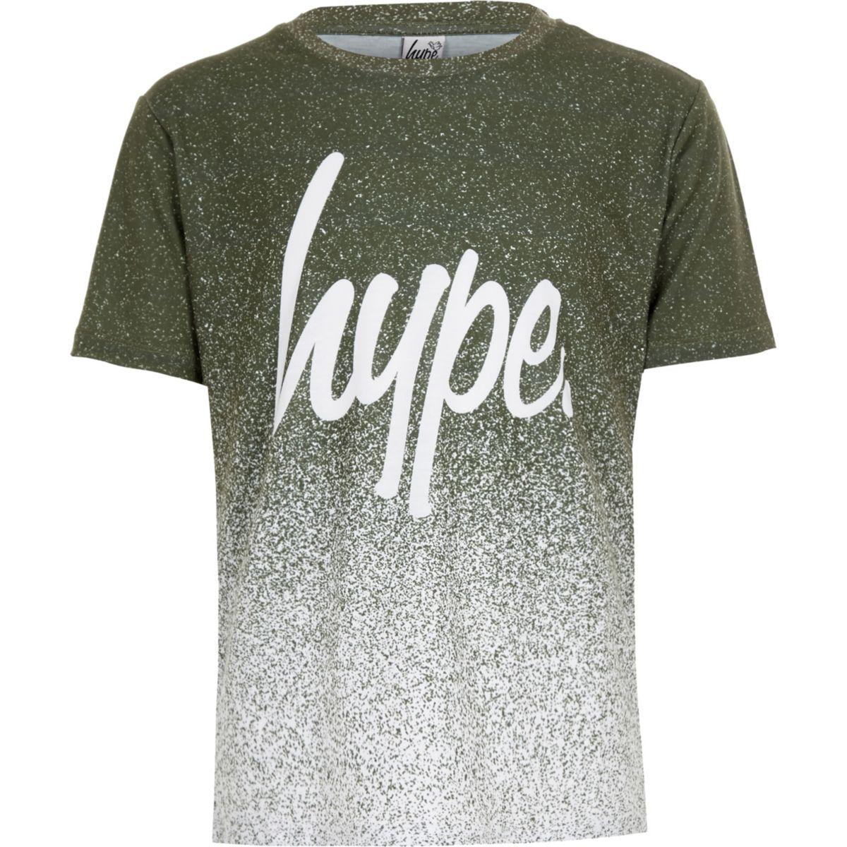Boys Hype khaki speckle fade T-shirt