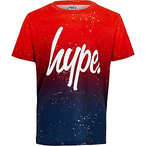 Boys red Hype fleck fade T-shirt