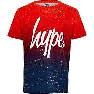 Hype - Rood T-shirt met vervaagde spikkelprint voor jongens