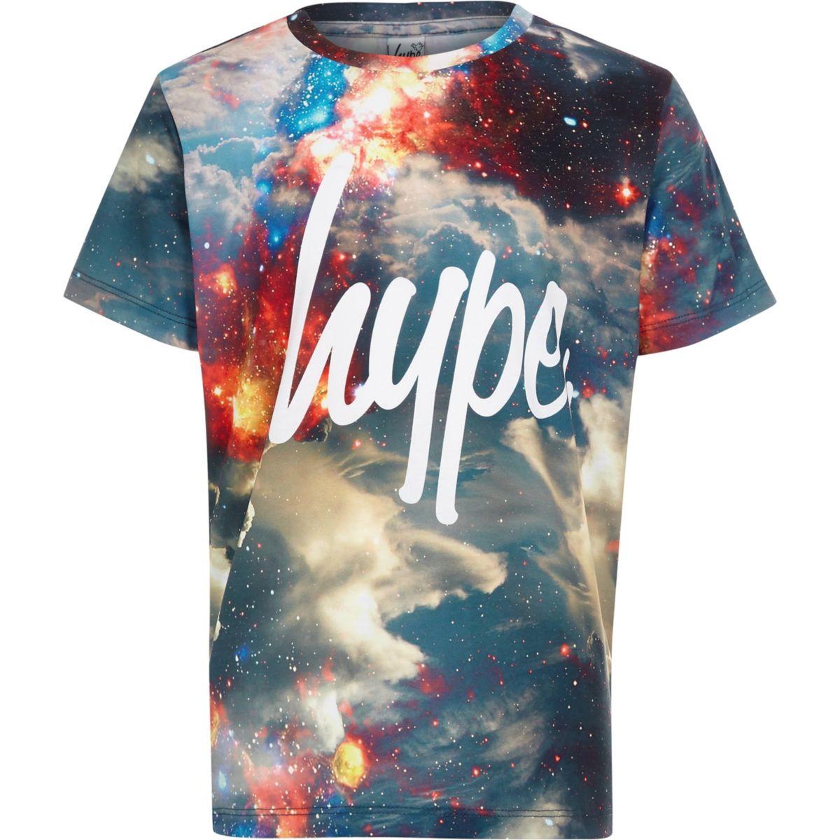 Boys Hype space print T-shirt