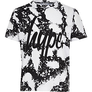 Boys Hype white paint splat T-shirt