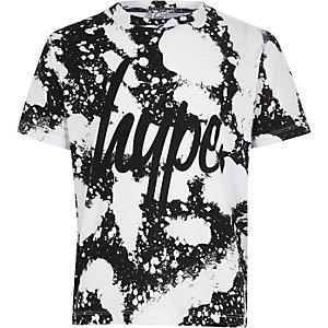 Hype – Weißes T-Shirt mit Farbspritzdesign