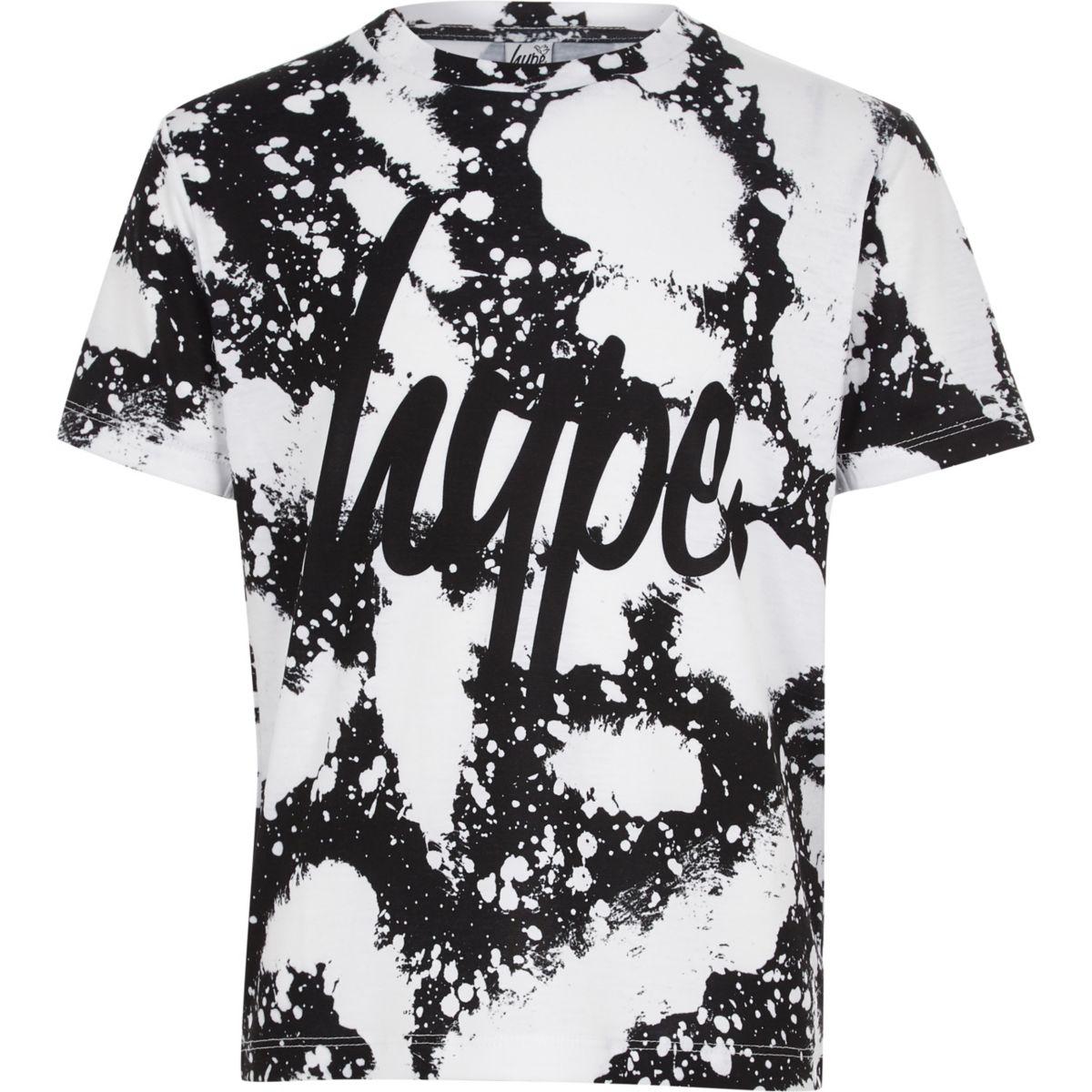 Boys Hype white paint splat T-shirt