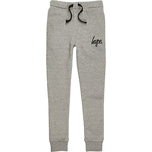 Boys grey Hype joggers