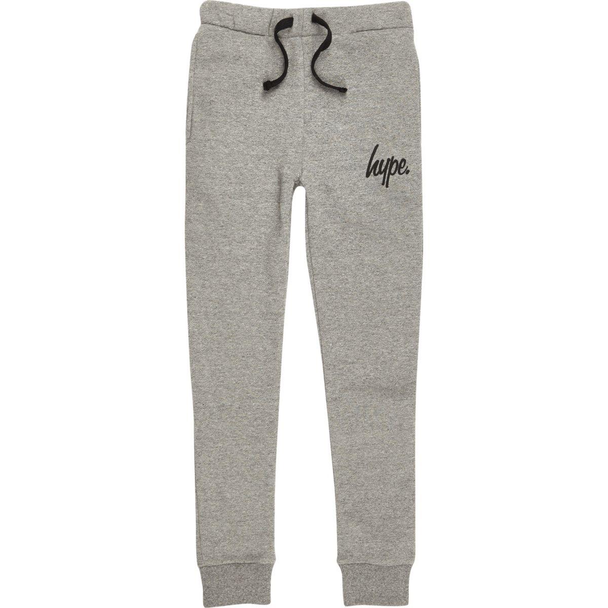 Boys Hype grey joggers