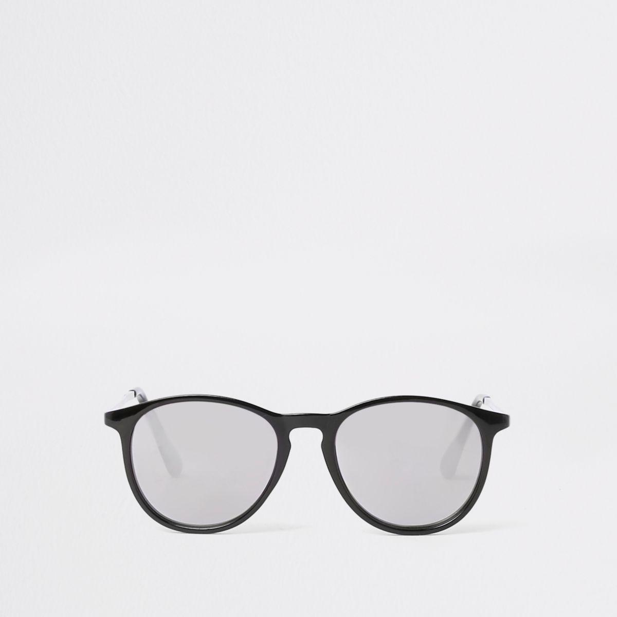 Boys black retro smoke lens retro sunglasses