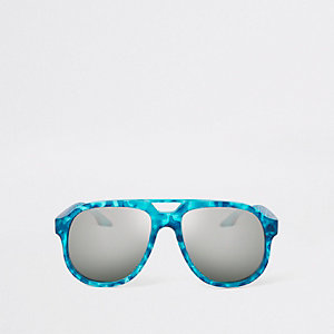Blaue Sonnenbrille mit Camouflage