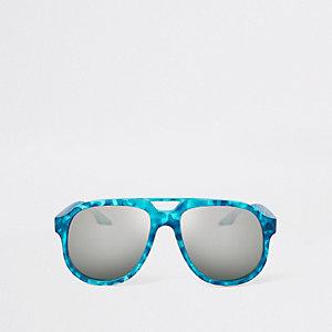 Blauwe zonnebril met camouflageprint voor jongens