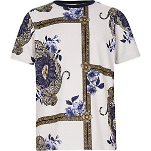 T-Shirt in Lila mit Print
