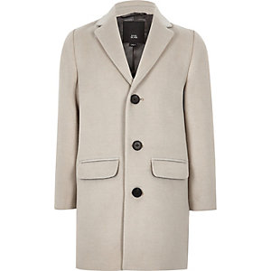 Boys ecru smart overcoat