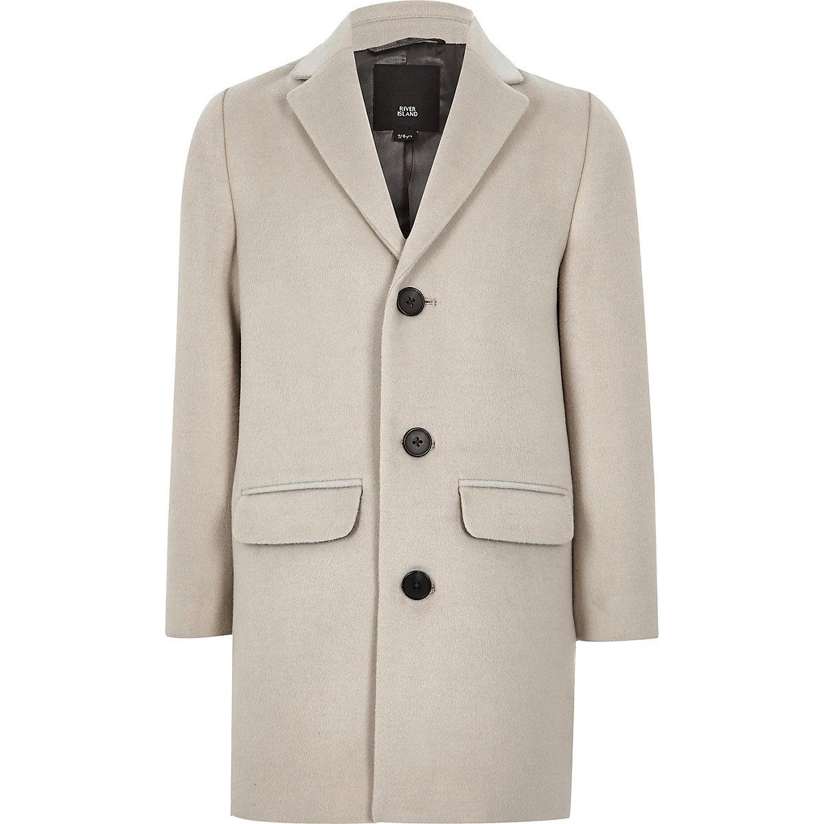 Boys ecru smart overcoat
