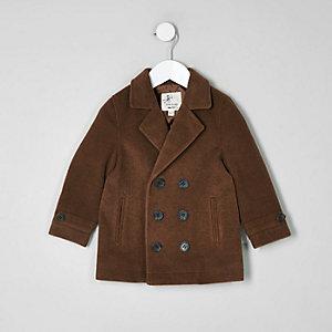 Mini - Bruine overjas voor jongens