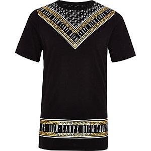 "Schwarzes T-Shirt ""Carpe Diem"""