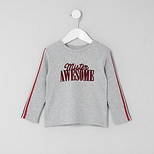 Mini boys white 'mister awesome' T-shirt