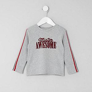 Mini - Wit T-shirt met 'mister awesome'-print voor jongens
