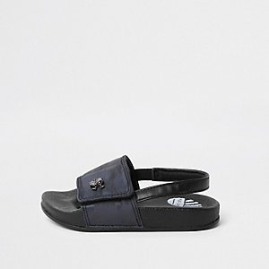 Mini boys navy camo sliders