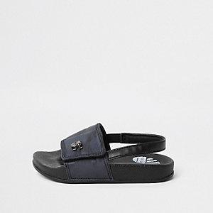 Mini - Marineblauwe slippers met camouflageprint voor jongens